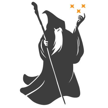 Wizard Cartoon Flat Design Vector
