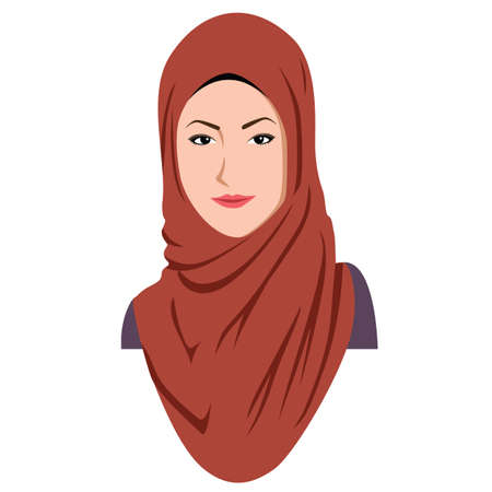elegant woman: Young Stylish Islamic Girl Wears Hijab Sharia