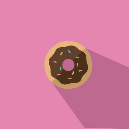 A Donut With Chocolate Icing Vector illustration