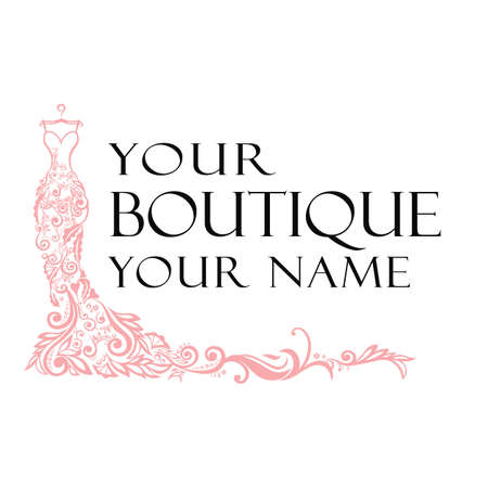 Dress Boutique Illustration Vector Logo 矢量图像