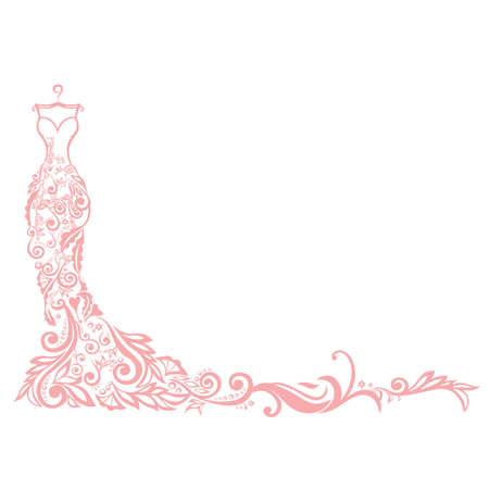 evening dress: Dress Boutique Illustration Vector Logo Illustration