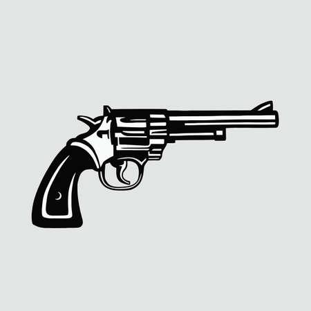 revolver: Handgun Revolver Vector Illustration