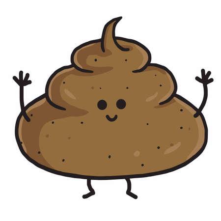 Cute Poop Cartoon Vector Illustration Illustration