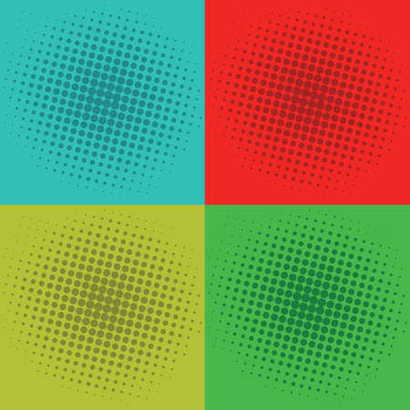 Pop Art Squares Background Vector Template Image Ilustração