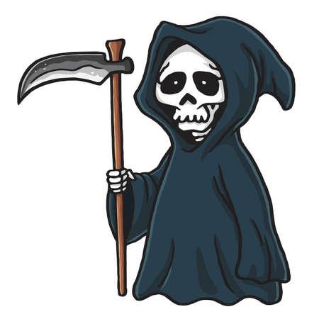 grim reaper cute cartoon skeleton halloween vector illustration rh 123rf com Grim Reaper Graphics halloween grim reaper clipart