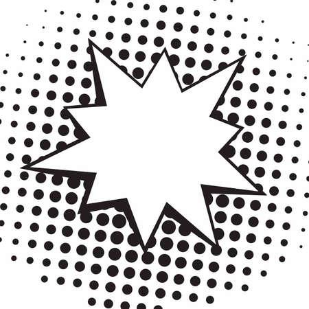 Vintage Pop Art Comics Speech Bubbles Vector Black and White Fighting Illustration Ilustração
