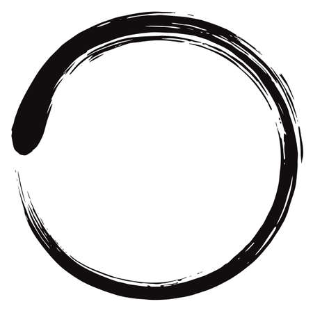 A Minimalistic Enso Zen Circle Vector illustration.