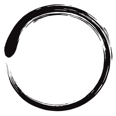 Un minimalismo Enso círculo Zen ilustración vectorial.