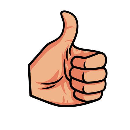 Thumb Up Vector Icon Illustration
