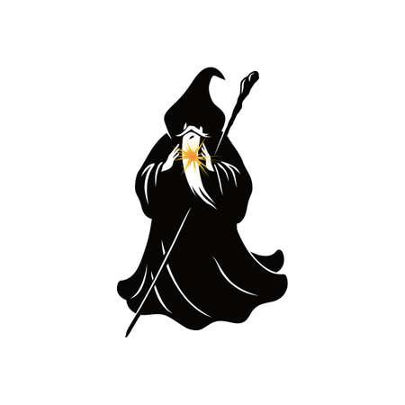 Wizard Cartoon Character Design Vector