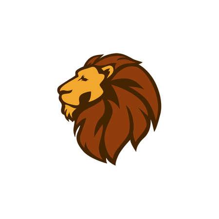 야생 사자 로고 아이콘, 벡터 디자인 일러스트