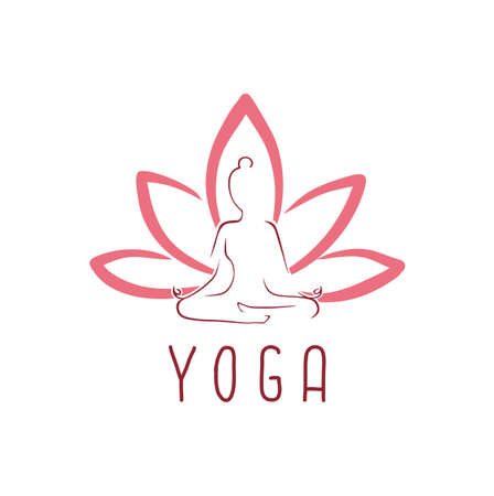 Lotus Yoga Logo Vector Design