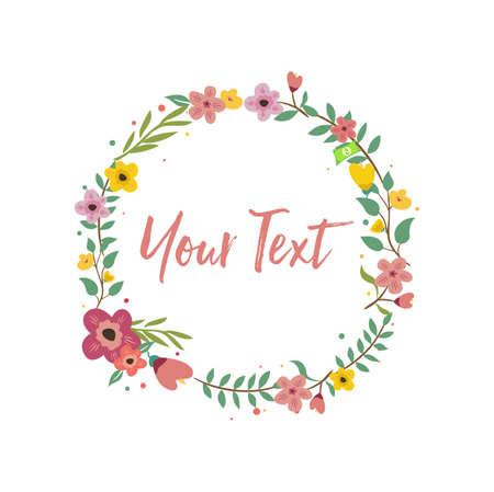 Wedding Invitation, Greeting Card. Circle Vector Background Template Illustration Design