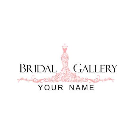 ドレス ブティック ブライダル ロゴ テンプレート イラスト ベクター デザイン 写真素材 - 90505383