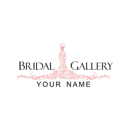 Dress Boutique Bridal Logo Template Illustration Vector Design