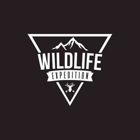 Wilderness Expedition Template Vector Design, Black Background
