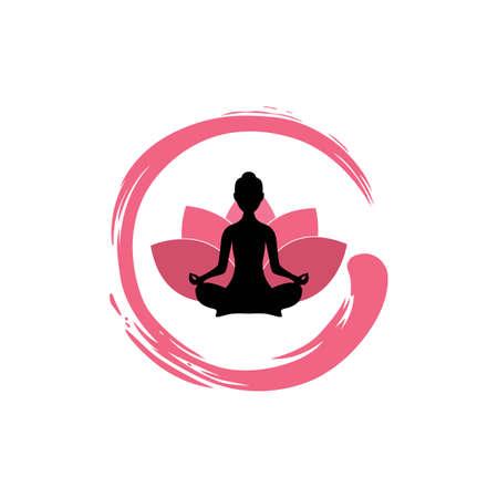 yoga silhouette de femme