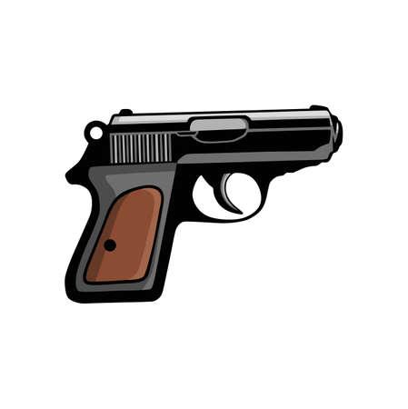 Pistol Gun Handgun Vector Illustration Illusztráció