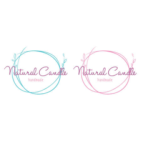Set of Logo for Beauty and Cosmetics for Handmade Candle Spa Vector illustrations