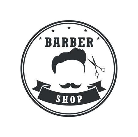 Barber Shop Badges Vintage Design Elements. Logo, Labels, Banner, Emblems. Vector Illustration Illustration