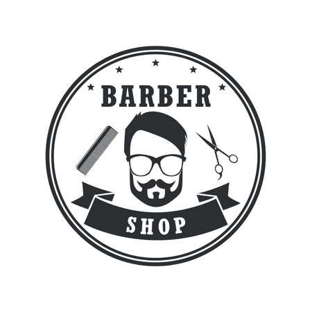 Barber shop badges vintage design elements. Icon, labels, banner and emblems.