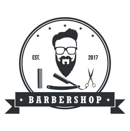 Barber shop hipster badges vintage design elements. Icon, labels, banner and emblems.