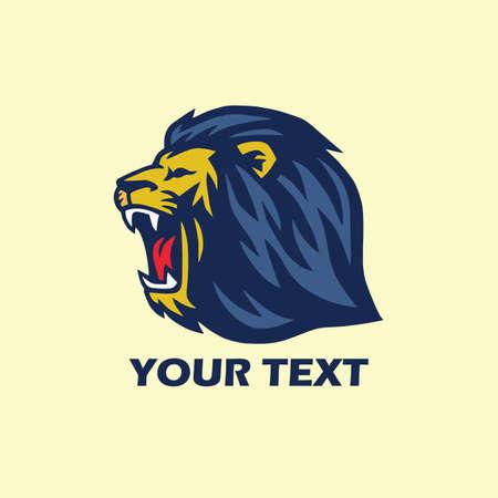 Wild Lion Roaring Logo Ilustrace