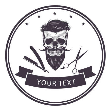 Barbershop emblem Template design