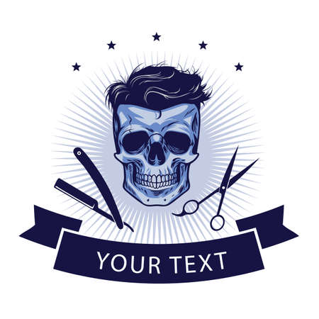Barbershop Logo Template. Vector Retro Design Illustration Ilustrace