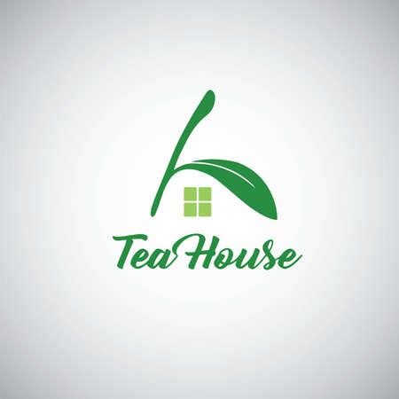 Tea House Logo Template Design Vector
