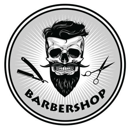 Barbershop Barber Logo Template Retro Design Vector