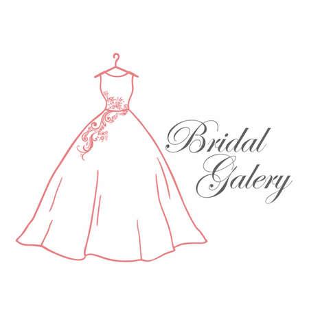 Bridal Gallery Logo, Bridal Boutique Logo, Sign, Icon, Vector Design Template