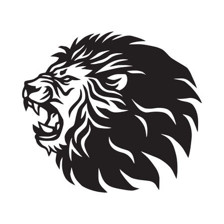 Roaring Lion Logo Mascot Vector Template 일러스트