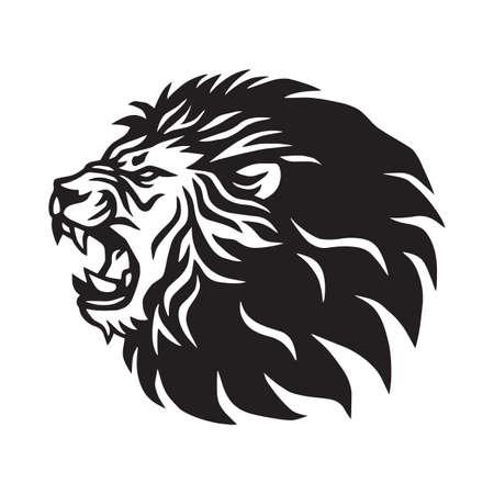 Roaring Lion Logo Mascot Vector Template Illustration