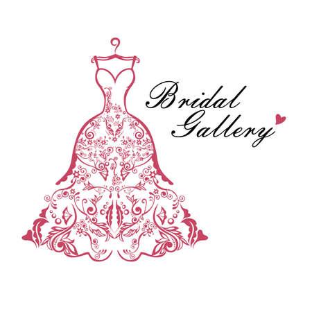 Dress Boutique Bridal Logo Ideas Template Illustration Vector Design