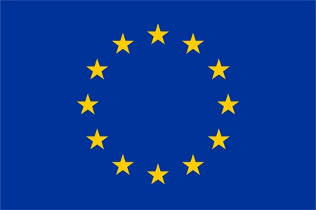Official EU flag Vector