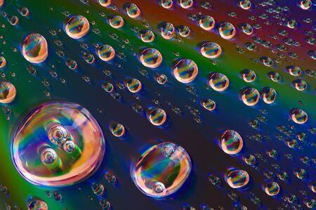 Drop on glass.