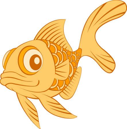 fishtank: Gold Fish Mascot Illustration