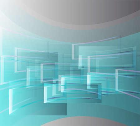 vibrant colors fun: Volare in finestre sul blu su uno sfondo grigio Vettoriali