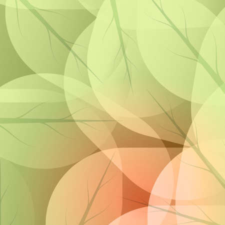 Background of green leaves abstract vector.