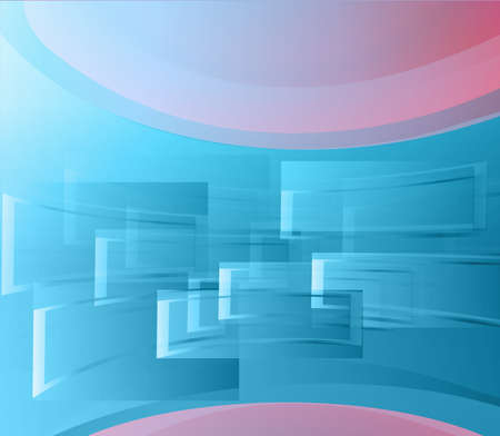 Background blue abstract vector window.  Vector