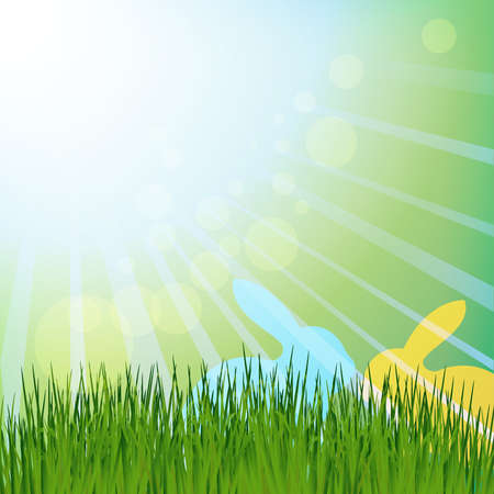 easter rabbits under the sun Stock Vector - 17973644