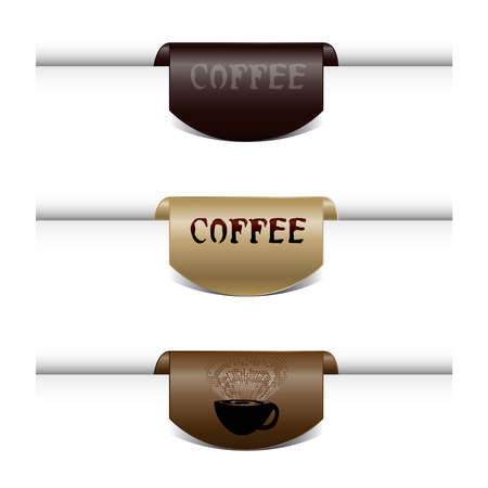 Coffee Labels.Set of coffee vector ribbons and frames.Vector Illustration coffee.