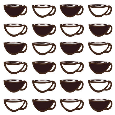 vector background with coffee cup , coffee icons seamless pattern , coffee mug pattern Vector