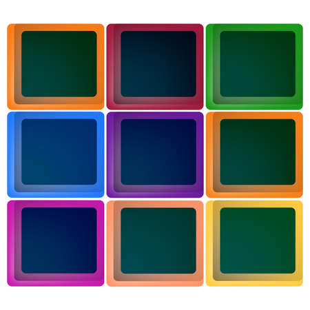 Set  isolated square on white ,Vector Illustration window. Vector