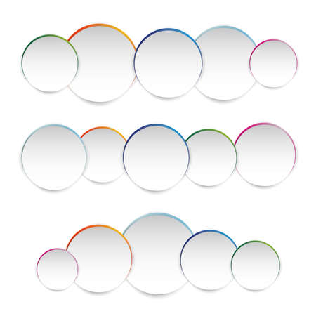 Vector illustration of white paper round notes ,abstract colored background contains of round bubbles Vector