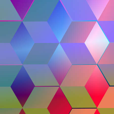 Abstract  background with blue squares  photo