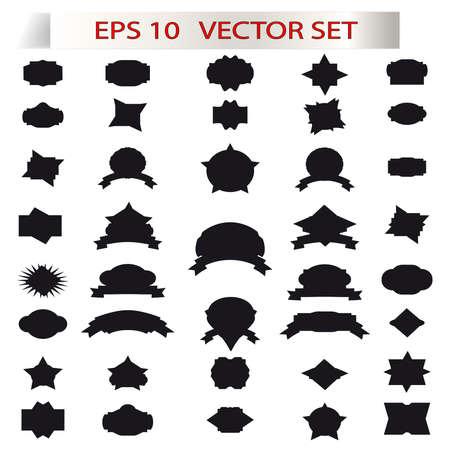 Retro elements for summer calligraphic designs ,vintage ornaments vector,black labels. Vector