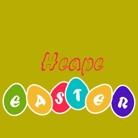 Easter egg card,vector yellow paper easter egg card Illustration