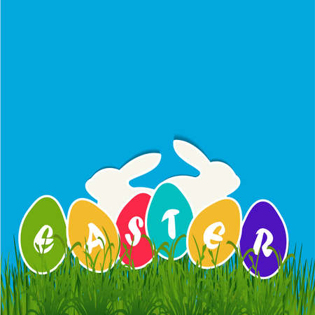 Easter egg card,vector yellov paper easter egg card Vector